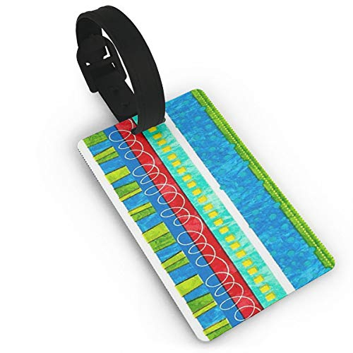 Luggage Tags With Bug's Life Funky Stripe Print For Suitcases, Flexible PVC Travel ID Identification For Bags & Baggage