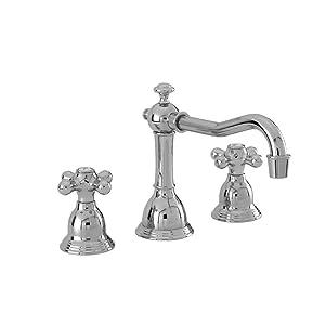 Newport Brass 7300 Newport 365 Deck Mounted Bathroom Faucet - Free Pop Up Drain, Polished Chrome