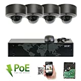GW Security 5MP (2592x1920p) 8Ch NVR Home Network Security Camera System - 4 x HD 1920p 2.8~12mm Varifocal Zoom Weatherproof Dome PoE IP Camera - 5 Megapixel (3,000,000 more pixels than 1080P)