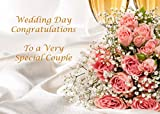 Wedding Wishes. A Very Elegant Wedding Greeting Card. Message inside reads
