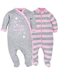 Baby Girls 2 Pack Organic Zip Front Sleep 'N Play