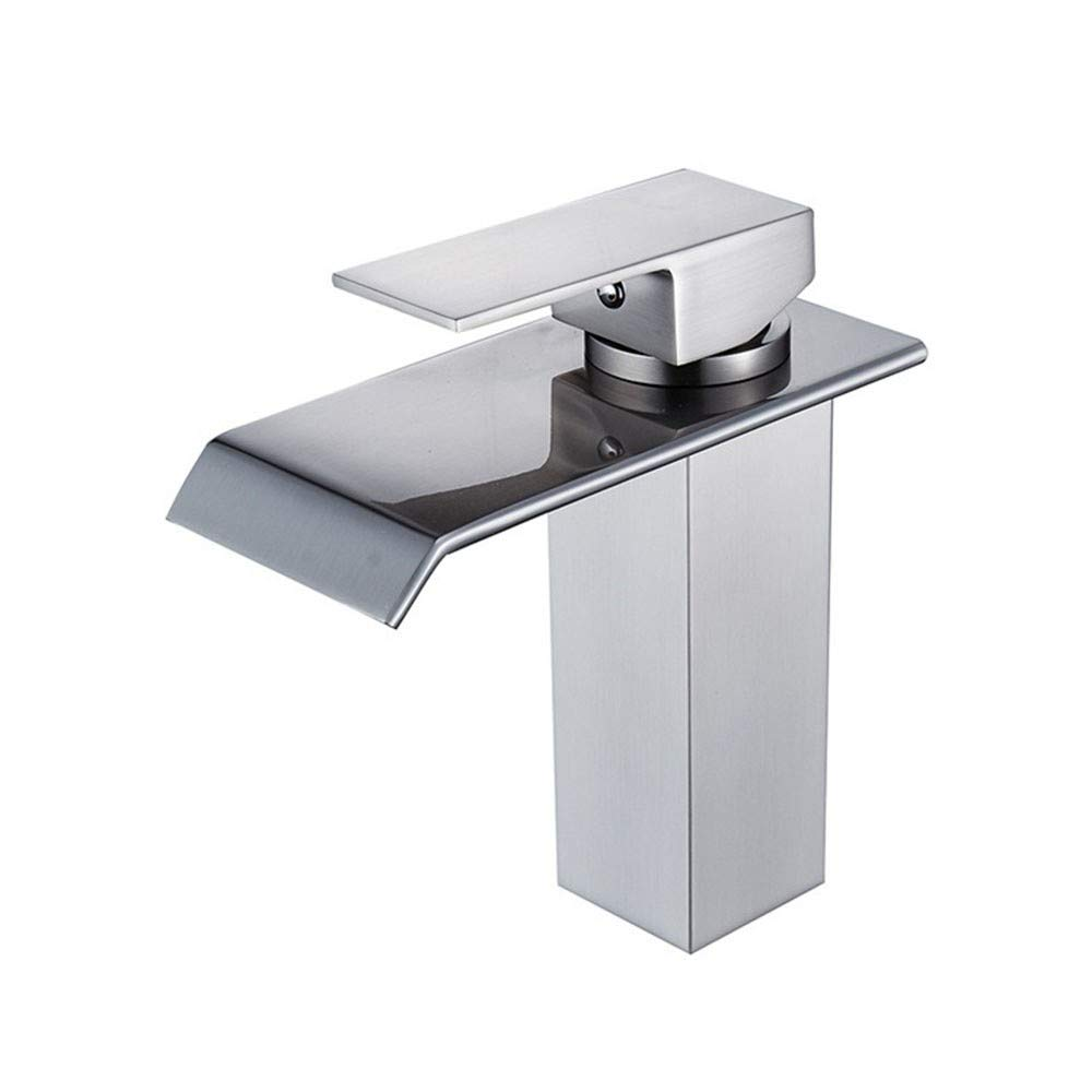Pure Copper Bathroom washbasin washbasin Nickel Brushed matt Single Hole Faucet hot Cold Faucet Kitchen Bathroom Sink Faucet Shower Faucet Bathroom Faucet