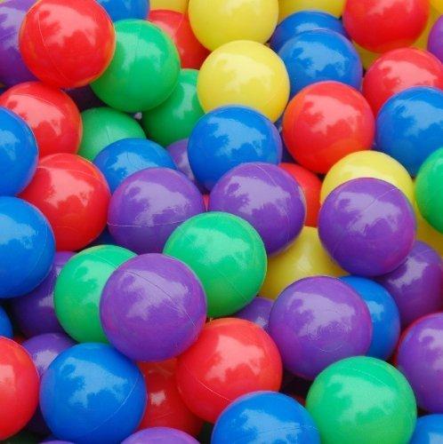 50 Pcs Colorful Soft Plastic Ocean Fun Ball Balls Baby Kids Tent Swim Pit Toys Game Gift 2.76' (Random colors)