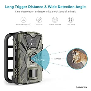 """Trail Game Camera, 1080P HD 12MP 65ft Infrared Night Vision Hunting Mini Camera with 24LEDs, Motion Sensor, 0.5s Trigger Speed, IP66, 2.4"""" LCD Screen for Wildlife Surveillance, Home Security【Upgraded】"""