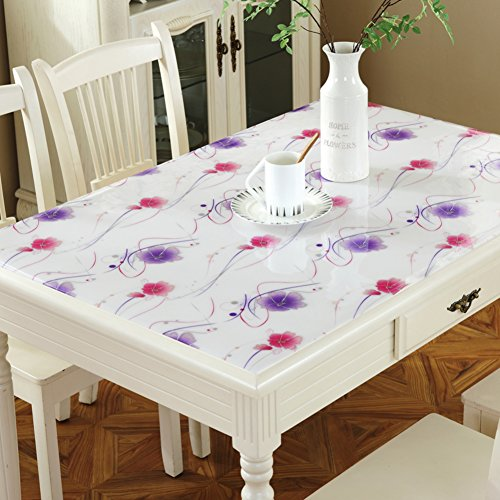 Plastic table cloth/[waterproof], burn-proof,transparent cushion/table mat /pvc,thicken,[soft glass],frosted crystal mat/ table cloth-A 90x140cm(35x55inch) by KDHKDNVNIDLL
