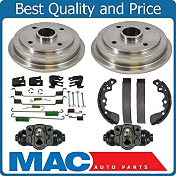 Front Rear Brake Rotors /& Drums 4 PCS For 1995 Geo Metro