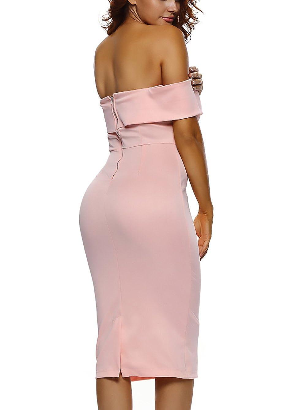 2ccc4b088278 HaiDean Vestidos Ajustados Mujer Vestido Verano Elegantes Barco ...