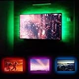 "USB TV LED Backlight RGB TV Backlighting Kit for 32"" to 60"" Sony TCL LG Avera Samsung Monitor LCD HDTV Television Wall Mount Stand Ambient Mood Lighting"