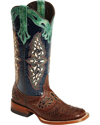 Lucchese Women's Handcrafted 1883 Amberlyn Full Quill Ostrich Boot Sienna 10.5 M (Womens Full Quill Ostrich Boot)