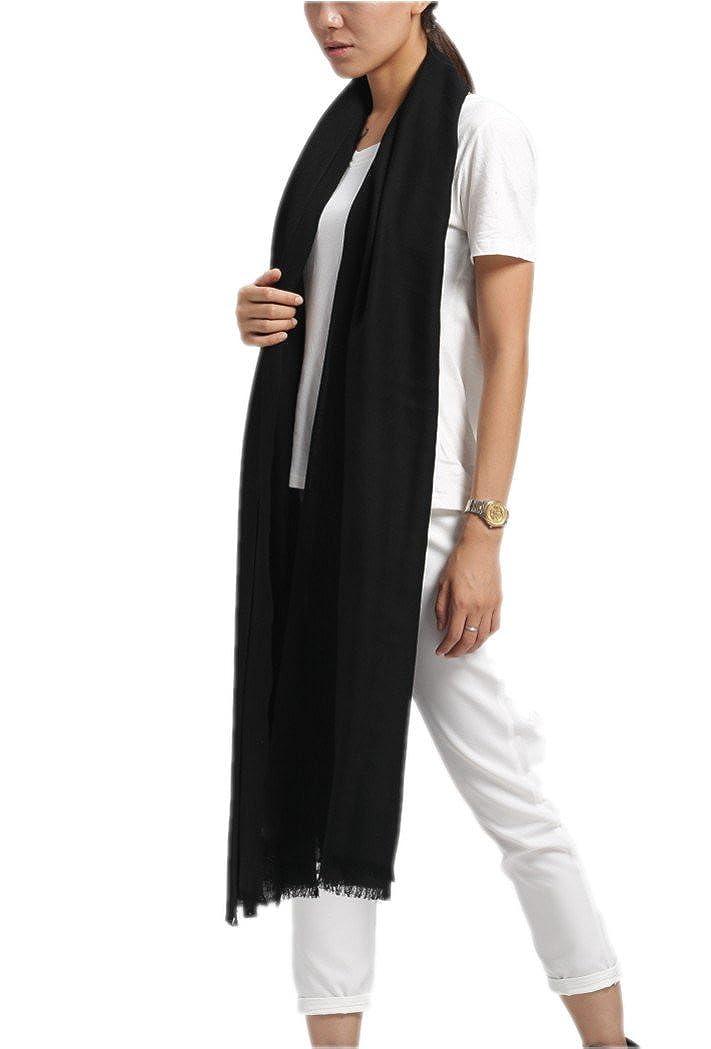 723d1438f679 Prettystern - écharpe oversize Pashmina 100 fil frange courte  particulièrement fines et douces - beaucoup de couleurs  Amazon.fr   Vêtements et accessoires