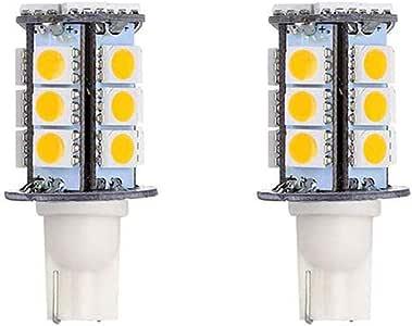 BrothersLED T10 194 921 High Brightnesss Automotive LED Light Bulbs 10-30V Miniature/Wedge Base Bulb for Car Lights RV Dome Lights Boat Lights and Landscape Lights 3W Warm White 6-Pack