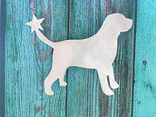 (Labrador Retriever, Lab Dog Christmas Tree Topper, Holiday Decoration,)