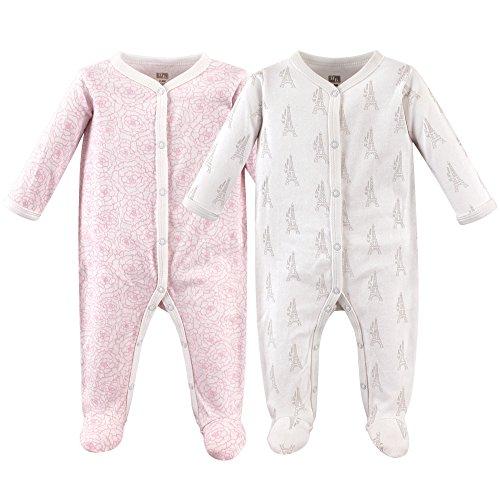 Hudson Baby Cotton Union Suit, 2 Pack, Paris, 3-6