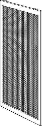 RITE SCREEN COMPANY 121-A 36''BRZ 36 x 78'' Bronze Adjustable Patio Screen Door