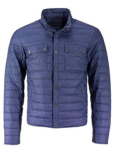 Down Dettagli Con Alla Piumino Moda Men's melange Jacket Lightweight Leggero Navy EwqCaBnFx0