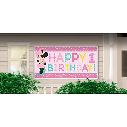 1st Birthday Minnie Mouse Banner Party Supplies Minnie Fun to be One!