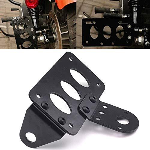 f/ür Harley Schwarz Orel/_carparts Motorrad Zubeh/ör Bremse R/ücklicht Seitlicher Kennzeichenhalter ohne R/ücklicht