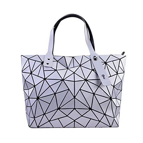 bandoulière motif diamant blanc à capacité avec grande à géométrique Sac nOxH85Xx