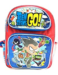 Licensed Teen Titans Go Custom 16 Large Backpack