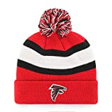 OTS NFL Atlanta Falcons Men's Rush Down Cuff Knit Cap with Pom, Team Color, One Size