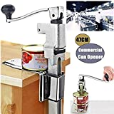 Commercial Can Opener-13inch Heavy Duty Commercial Kitchen Restaurant Can Opener Table Bench Clamp Commercial Grade Manual Can Opener