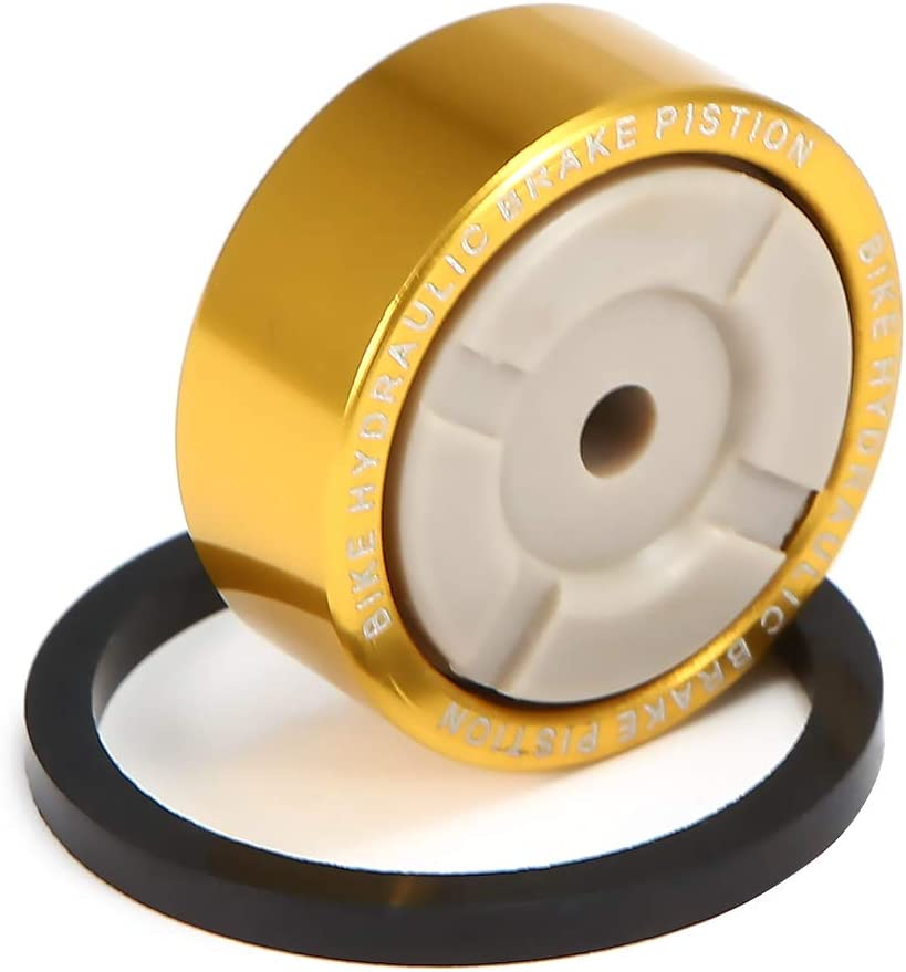 Honeytecs 1 PCS Bike Hydraulic Brake Caliper Parts Metal Piston Sealing Ring for Shimano SLX M675/M7000/XT M785/M80000/RS805/RS815