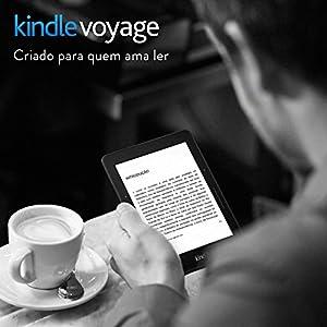 """Kindle Voyage Wi-Fi, iluminação embutida, tela de 6"""" sensível ao toque de alta resolução"""