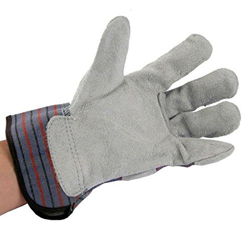 UltraSource Grain Cowhide Leather Work Gloves, Size Medium Pigskin Utility Gloves