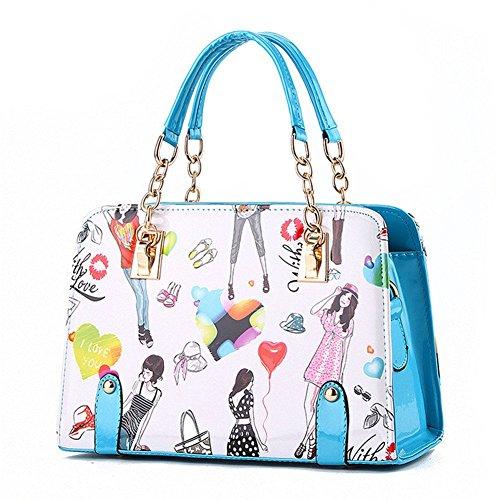 Fashion QCKJ, a forma di borsetta da donna, in ecopelle, colore: blu