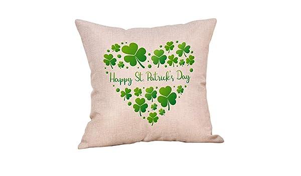 Cooljun St. Patricks Day - Funda de cojín de Lino para sofá ...