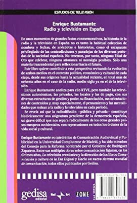 Radio y televisión en España (Estudios De Tv): Amazon.es: Bustamante Ramírez, Enrique: Libros
