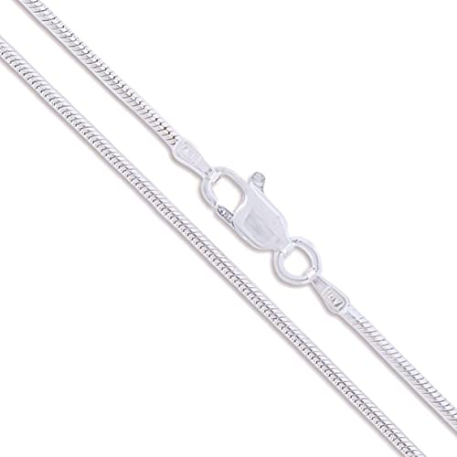 Sterling Silver Magic Snake Chain 1mm Solid 925 Italy New Brazilian Necklace mpGOQ