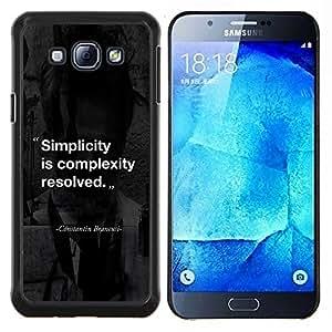 Stuss Case / Funda Carcasa protectora - Citation inspirante - Samsung Galaxy A8 A8000