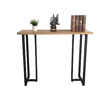 Tische Einfache Eingang Rechteck Tisch Massivholz Wand Rand Eisen ...