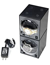 2 Boxy Brick Single Stackable Watch Winder (with Power Supply)