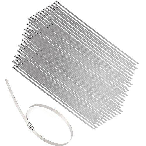 Heavy Duty Loop Ties Wire Self Locking Stainless Steel Metal Cable Ties Strap 100 Pcs