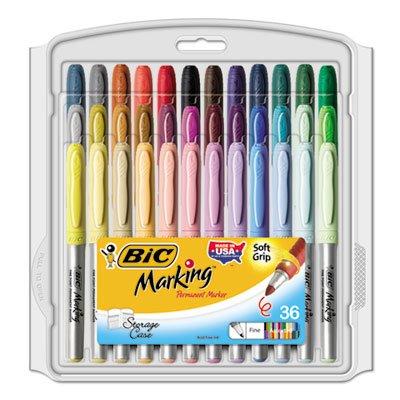 Marking Fine Tip Permanent Marker, Assorted Colors, 36/Set