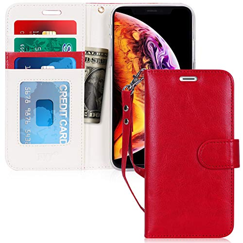 - FYY Luxury PU Leather Wallet Case for iPhone Xr (6.1