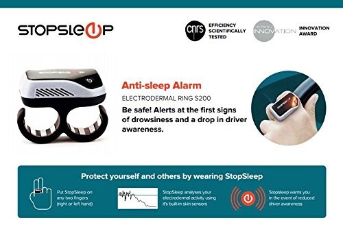 Anti Sleep Alarm for Drivers. Warns up to 5 Minutes Before Drowsiness. Beep and Vibration Doze Alert. Car Truck Safety Driving Warning Device. Stay Awake Nap Detector Technology Alertness System by Stopsleep (Image #8)