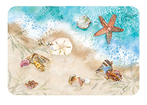 Vinyl Placemats Nautical Decor Beach Decor Place Mats Decorative Set 4  Outdoor Indoor Patio Ocean Shells