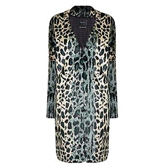 6f1942c93918b Leopard Print Faux Fur Coat (s m)  Amazon.co.uk  Clothing