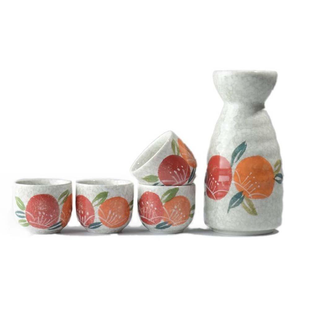 FANCY PUMPKIN Creative Sake Rice Wine Pitcher Cups Sets for Japanese Restaurant, 12