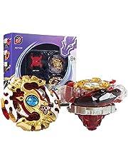 Innoo Tech Beyblade Burst Peonzas 2 Pcs Gyro Spinning Fusión 4D Conjuntos de Metal, Launcher con Estadio, Regalo para niños