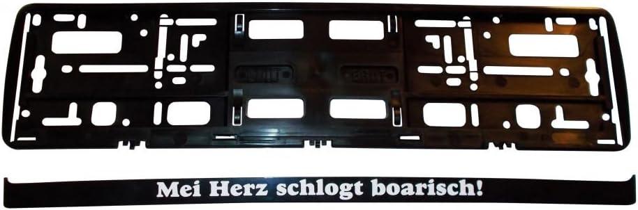 Kennzeichenhalter Mei Herz Schlogt Boarisch Auto