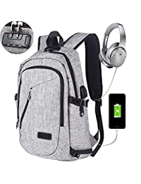 Business Laptop Backpack, Dona 13 15 15.6 Inch College Backpacks With USB Charging Port and Headphone Port, Anti-theft Lightweight Travel Bag for Women & Men, Fits UNDER 17 Laptop / Computer