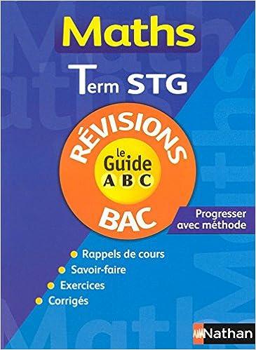 Livre GUIDE ABC MATHS TERM STG REVIS pdf epub