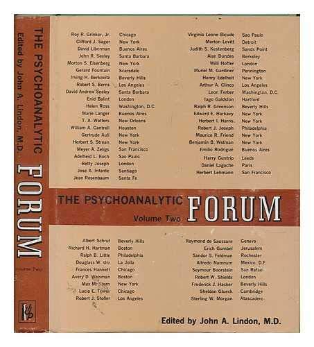 Psychoanalytic Forum: v  2: Amazon co uk: John A  Lindon