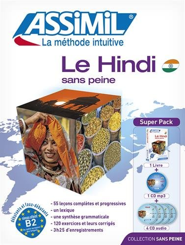 Le Hindi sans peine : Avec 4 CD audio (1CD audio MP3 - Hindi for French speakers (French Edition) - Hindi for French speakers