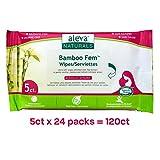 Aleva Naturals Bamboo Fem Wipes, 120 Count