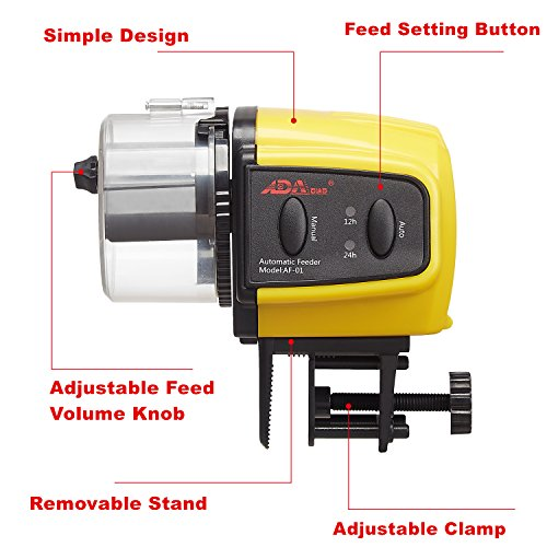 ADA Automatic Fish Feeder Aquarium Tank Auto Fish Food Timer Capacity Adjustable for Business Trip/Travel/Urgent Business (Batteries Included) by Add On Accessories (Image #2)